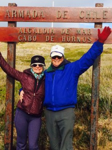 Bill and Cindi at the bottom of the world, Cape Horn, Chile, South America!